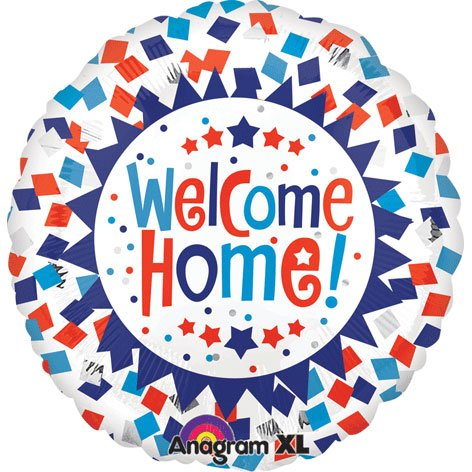 "Welcome Home Confetti Design 32"" Mylar Foil Balloon"
