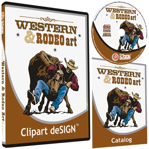 Cowboy-Rodeo-Western-Horse Clipart-Vinyl Cutter Plotter Clip Art Sign Making Images-Design Vector Art Graphics Cd-Rom front-727111