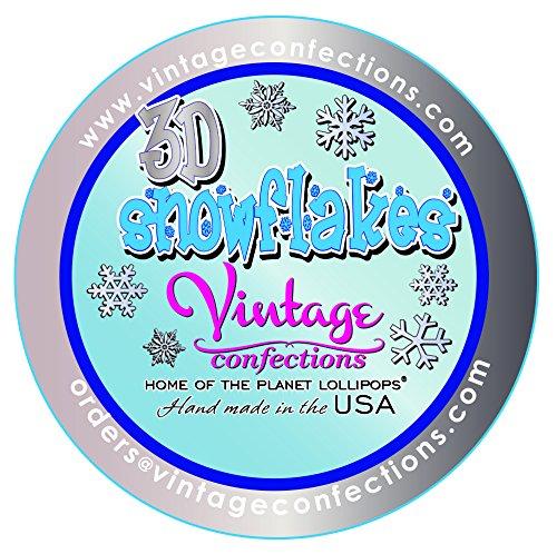 Vintage Confections 3d Snowflake Lollipops