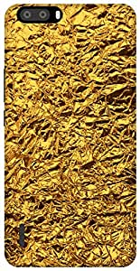 The Racoon Grip shiny foil gold hard plastic printed back case / cover for Huawei Honor 6 plus