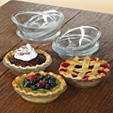 Libbey CRI56236 Glass Just Baking Pie 4.9 in., 10 Pieces