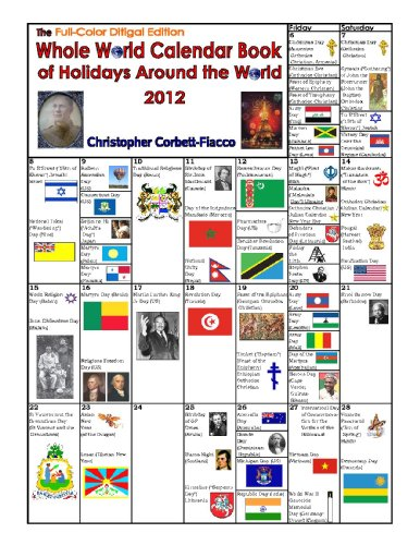 The Whole World Calendar Book of Holidays Around the World 2012 Full-Color Digital Edition