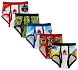 Fruit Of The Loom Boys 2-7 Angry Birds 5 Pack Brief, Assorted, 6