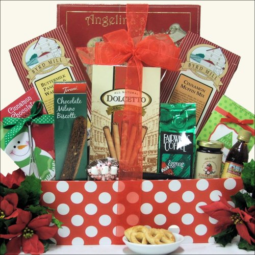 Great Arrivals Breakfast Holiday Christmas Gift Basket, Morning Wishes