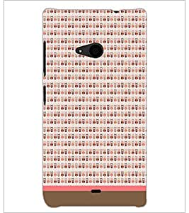 PrintDhaba Owl Pattern D-1704 Back Case Cover for MICROSOFT LUMIA 535 (Multi-Coloured)