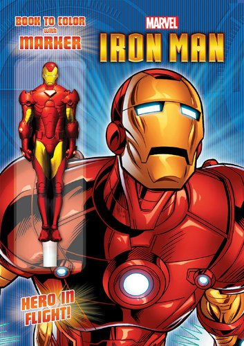 Marvel Iron Man Book to Color with Shaped Marker - 1