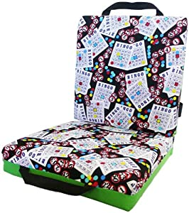 Green Bingo Card Seat Double Cushion by National Bingo