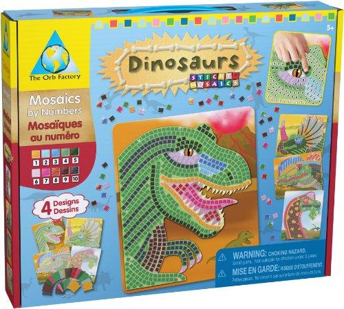 Orb Factory - ORB06244 - Loisirs Cr�atifs - Sticky Mosaiques Autocollantes aux Num�ros - Dinosaures