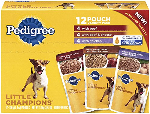 PEDIGREE LITTLE CHAMPIONS Meaty Ground Beef Variety Pack Wet Dog Food 5.3 Ounces (Pack of 12) (Wet Dog Food For Small Dogs compare prices)
