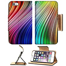 buy Msd Apple Iphone 6 Plus Iphone 6S Plus Flip Pu Leather Wallet Case Colorful Abstract Lines For Background Image 13360911