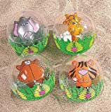 12-Pack Inflatable Clear Jungle Zoo Animal Beach Balls