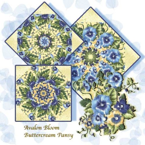 Faye Burgos' Buttercream Pansy Kaleidoscope Quilt Block Kit