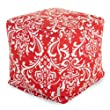 Majestic Home Goods Red and White French Quarter Cube, Small