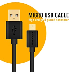 Master Cables Replacement Playstation PS4 Controller Cable - Gold Plated Extra Long 6.5 Foot USB Charger -