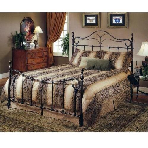 Hillsdale Furniture 1249Bkr Bennett Bed Set With Rails, King, Antique Bronze front-790072