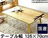 家具調コタツ・こたつ 長方形 135cm幅(ナラ材)