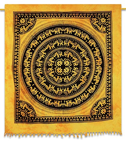 "Tapestry Hanging Bohemian Tapestries Mandala Dorm Room Tapestry Full Size 92"" X 82"" front-1044635"