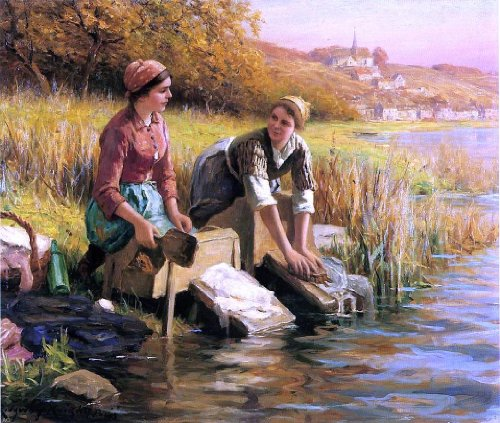 Women Washing Clothes
