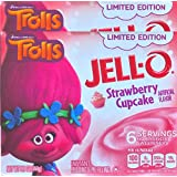 Jell-O Dreamworks Trolls Limited Edition Cotton Candy & Strawberry Cupcake Gelatin (Strawberry Cupcake, 2)