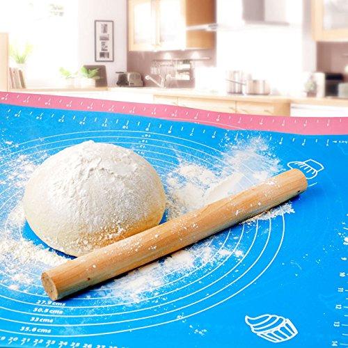 EQLEF® 1 pièces en silicone de Rolling Cut Mat Fondant Clay pâtisserie Glaçage Pâte Gâteau outil Sugarcraft