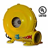 450-Watt, 0.6 HP Compact and Energy Efficient Zoom Commercial Air Blower for Small Inflatables and Bounce Houses (Color: Yellow)
