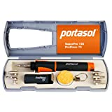 Portasol 011289250 Pro Piezo 75-Watt Heat Tool Kit with 7 Tips (Color: Gray/Orange, Tamaño: 10-inch)