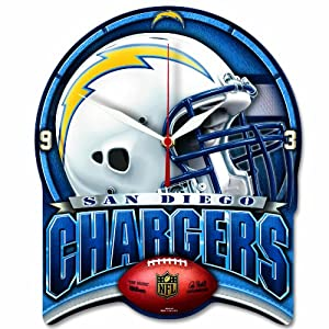 NFL San Diego Chargers High Definition Clock by WinCraft