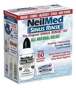 NeilMed Original Sinus Rinse Kit with 60 Premixed Sachets