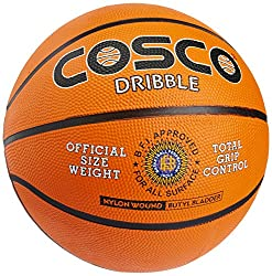 Cosco Dribble Basket Ball, Size 7 (Orange)