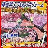 [送料無料]お腹いっぱい!バーベキューセット10人前 お肉11種類 総重量3.5kg