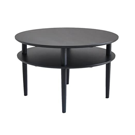 Rge Designs Coffee/ Occasional Table, 80 x 80 x 50 cm, Black Oak
