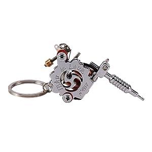 Mini tattoo machine pendant key chain metal alloy gun machine with mini tattoo machine pendant key chain metal alloy gun machine with key rings aloadofball Gallery
