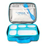 East World Bento Box Meal Prep and Food Storage Containers - Leak Proof Bento Boxes for Adults and Kids - With Lunch Bag, Cold Pack AND Cutlery! BPA Free Portion Control Container, Adult Lunch Box (Color: Blue)