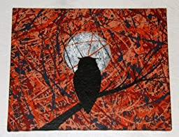 Modern Abstract Art ~ Owl Painting ~ Titled: THE VIGIL