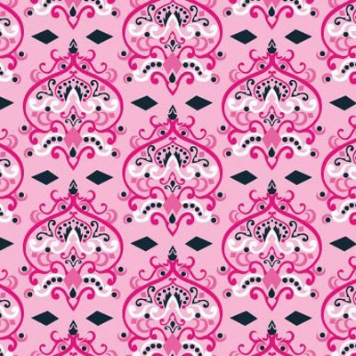 Caden Lane Luxe Collection Damask Single Sheet, Pink