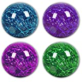 4 x Leucht Ball Leuchtball Springball Spring Flummi Leuchtflummi Glitzer