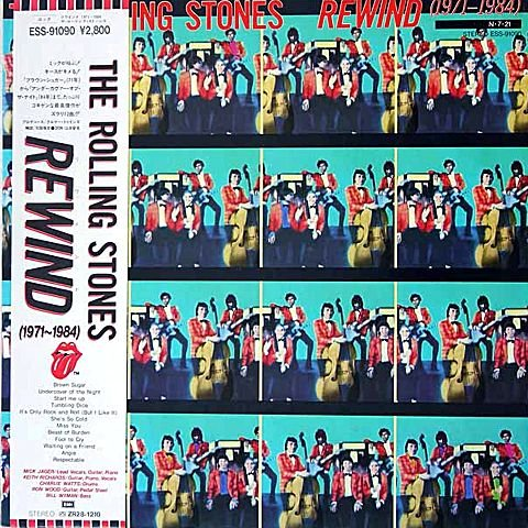 Rewind (1971-1984) - Japan pressing with OBI strip by The Rolling Stones, Mick Jagger, Ron Woods, Keith Richards and Charlie Watts