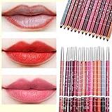 CINEEN 28 Farben Professionelle LipLiner Lippenstift Lippenkonturenstift Wasserdichte Lidstrich Pencil