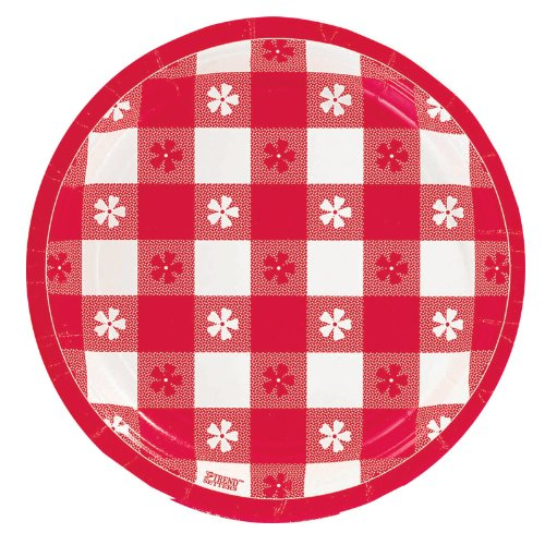 Gingham Check Dessert Plates Party Accessory