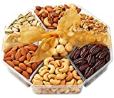 Hula Delights Deluxe Roasted Nuts Holiday Gift Basket, 7-Section