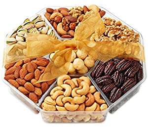Hula Delights Deluxe Roasted Nuts Gift Basket, 7-Section