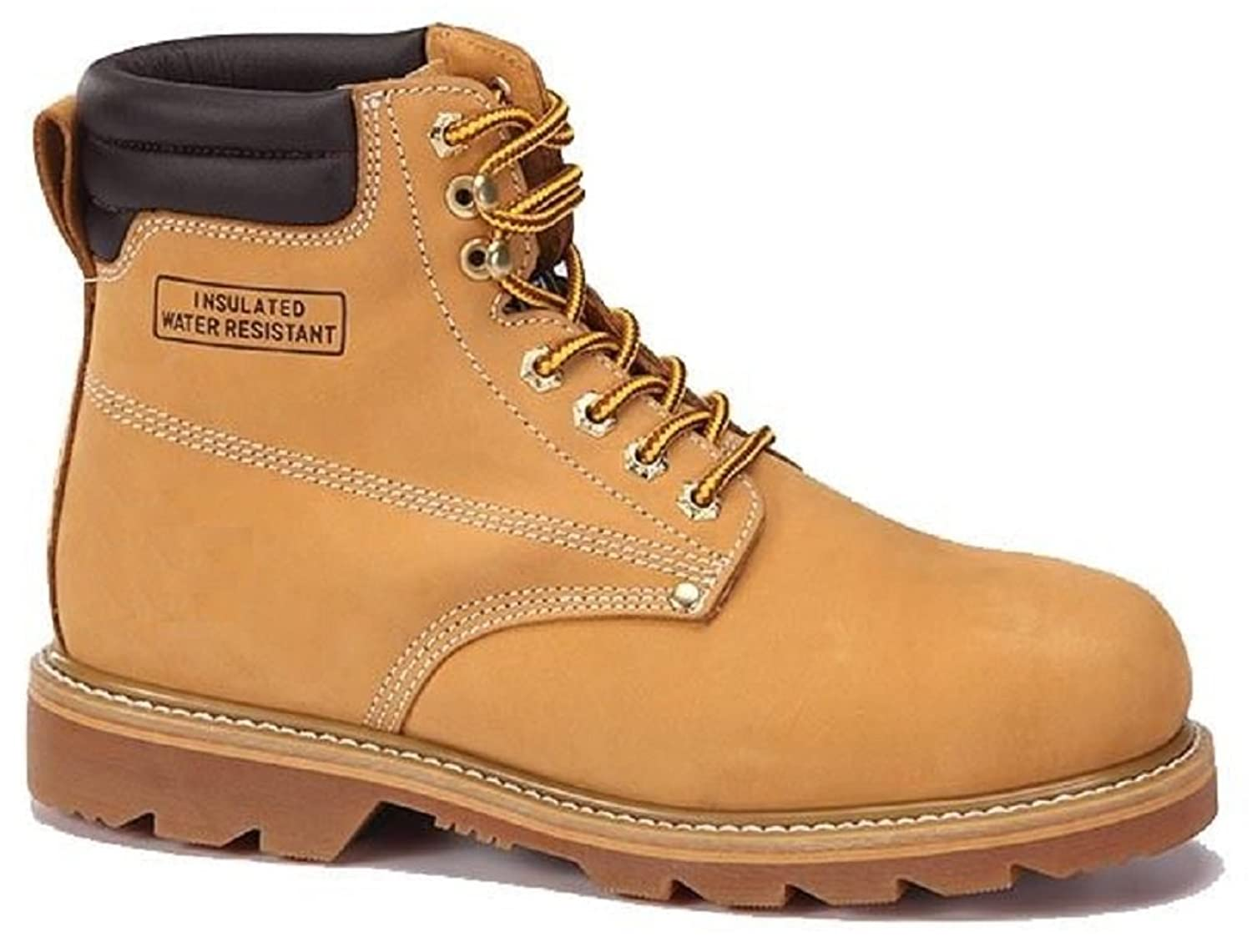 Men's Construction Steel Toe Boots Genuine Leather Short Engineer, Insulated and water Resistant Wheat Nubuck shoes Sizes 7-13 purnima sareen sundeep kumar and rakesh singh molecular and pathological characterization of slow rusting in wheat