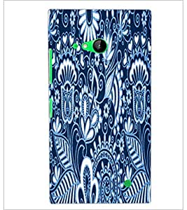 PrintDhaba Pattern D-3422 Back Case Cover for NOKIA LUMIA 730 (Multi-Coloured)