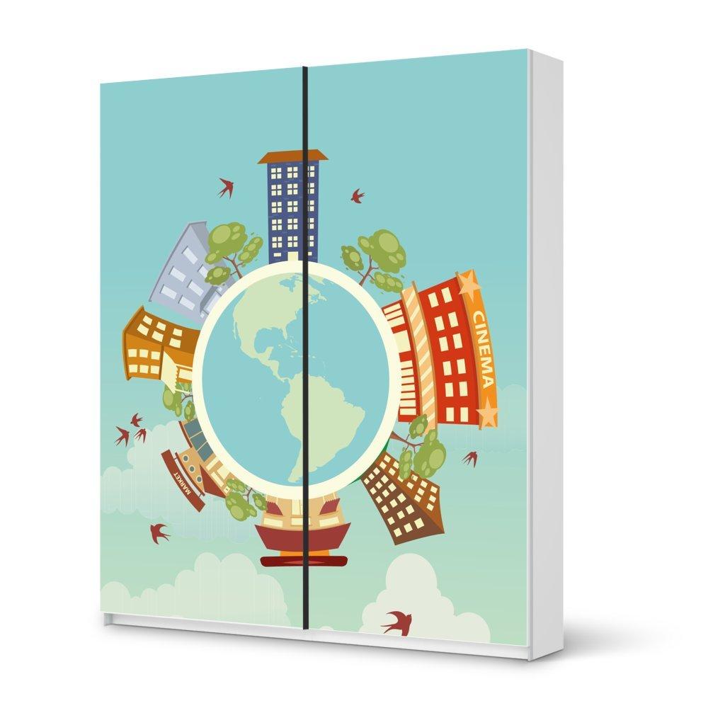 Folie IKEA Pax Schrank 236 cm Höhe – Schiebetür / Design Aufkleber Planetastic / Dekorationselement kaufen