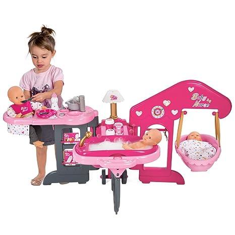 Maison de poupée pliable - cuisine/salle de bains/chambre - 13 accessoires