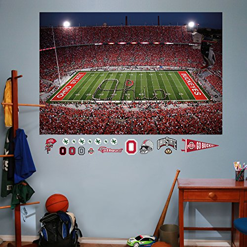 NCAA Ohio State Buckeyes Marching Band Script Ohio Mural Fathead Wall Decal, Real Big (48 Baseball Display Case compare prices)