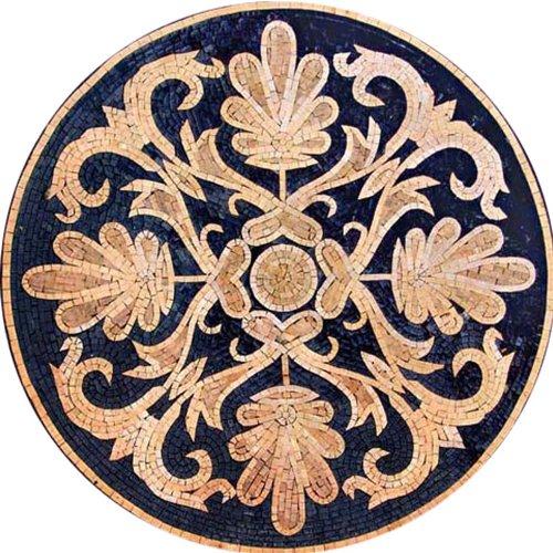 Mosaic Medallion Marble Stone Tile Floor Wall , 72