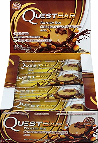 Quest Nutrition Questbar Protein Bar Chocolate Peanut Butter -- 12 Bars