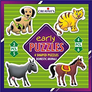 Creative Educational Aids 0736 Early Puzzles - Domestic Animals