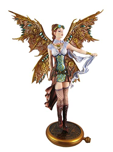 13.13 Inch Steampunk Fairy Aviator Adventure Statue Figurine